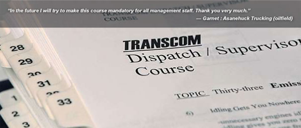 TRANSCOM Dispatcher-Supervisor Training